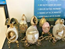 "DECORATIVE GOOSE EGG & MUSIC BOX COLLECTION 35 UNITS""WE NEED HELP W ANY INFO?"