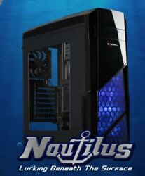 ROSEWILL NAUTILUS Gaming ATX Mid Tower Computer Case Side window w 3 120mm Fan $64.99