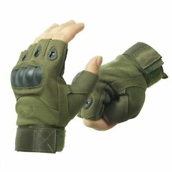 Tactical Gloves Fingerless Half Finger Military Safety Sports Glove Hiking $12.80