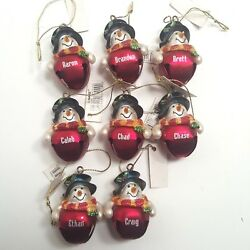 Ganz Mens Personalized Christmas Ornament Jingle Bell Snowman Choose One Name $3.39