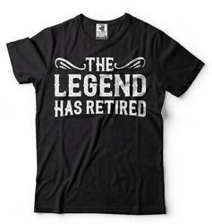 The Legend Has Retired T Shirt Funny Retirement Gift T shirt Retirement Gifts