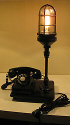 Upcycled desk table lamp vintage Bell Telephone #302 working 1940s phone