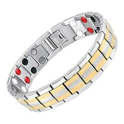 Therapy Magnet Bracelet Negative Ion 4 minerals Energy Balance Pain Relief  $33.77