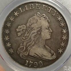 1799 Draped Bust Silver Dollar Very Fine PCGS Certified Classic Type Coin