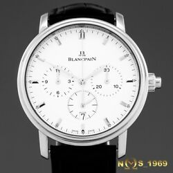 BLANCPAIN VILLERET 6185-1127-55B  CHRONOGRAPH  SINGLE  PUSHER  S.STEEL 38MM  B