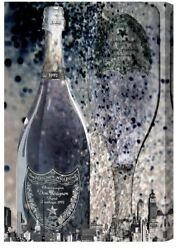 """Oliver Gal """"The City Is Ours"""" Dom Perignon Canvas Art 45 In x 30 In"""