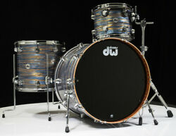 DW Collector's Series Maple Mahogany Drums 3pc - Peacock Oyster