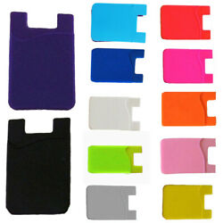 Adhesive Silicone Credit Card Pocket Sticker Pouch Holder Case For Smart Phone