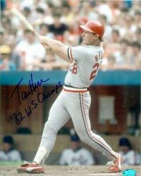 Tommy Herr autographed 8x10 Photo (St. Louis Cardinals) inscribed