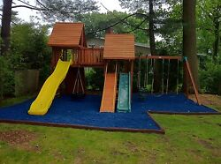 1 Full Pallet of Playground Rubber Mulch BLUE $529.00