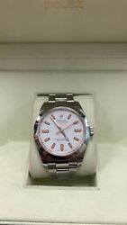 Rolex Milgauss 116400 Stainless Steel White Dial 40mm MINT CONDITION