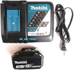 1 NEW 18V GENUINE BL1830B Makita Battery 1 DC18RC Charger 3.0 AH Fuel Gauge $67.97