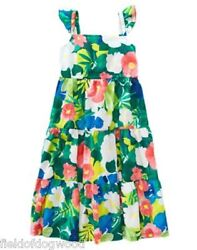 NWT Gymboree Sunny Safari Tropical Midi Dress 4 5 6 7 8 10 Girls