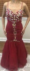 Women Formal Wedding Long Evening Party Ball Prom Gown Cocktail Dress Red $125.00