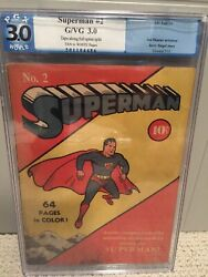 Superman #2 Golden Age PGX 3.0 DC Fall 1939