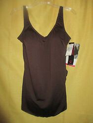 NWT $90 ROXANNE Brown Skirted Bathing Suit Sarong 24 46 C Bra Sized $16.49