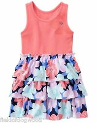 NWT Gymboree Tropical Breeze Floral Flower Ruffle Dress Size 5 8 Girls
