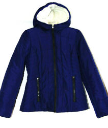 KENNETH COLE REACTION WOMENS POLYESTER JACKET SHERPA LINING POLYESTER PARKA SZ M