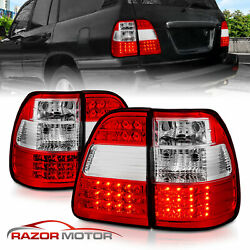 For 1998-2007 Toyota Land Cruiser LED Rear Brake Tail Lights Pair