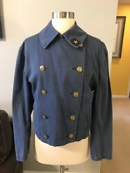 VINTAGE RARE 90's RALPH LAUREN COUNTRY Military Jean Denim Jacket Size Small
