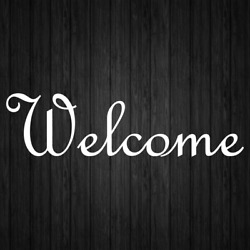 Welcome Decal Sticker Vinyl Sign Decals Business Home Door Window Stickers Decal