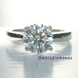 1.63ct champagne fancy color SI round diamond solitaire engagement ring 18k gold
