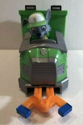 Paw Patrol ~ Rocky's Recycle Dump Truck Vehicle with Rocky Figure ~ Pre-owned