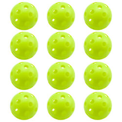 12 of Light Green Training Practice Plastic Baseballs. Airflow Hollow Softballs $9.99