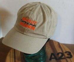 TAN ABSOLUT MANDRIN VODKA HAT ADJUSTABLE COUNTRY OF SWEDEN VERY GOOD COND A23 $9.99