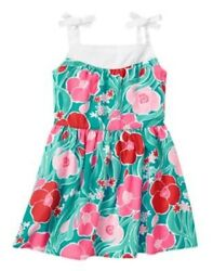 NWT Gymboree Mermaid Party Girls Sz 5 8 10 Pink Floral Dress $13.95