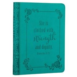 Christian Journal For Women Girls Teens Proverbs She is Clothed Note Book Diary