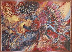 Modern Peacock Hand Knotted Wool Area Rug 8#x27; 11quot; X 12#x27; 5quot; P9398 $4251.24