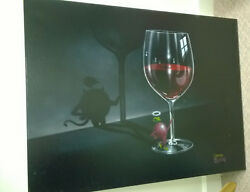 Michael Godard She Devil Painting Olive & Wine 28