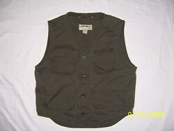 Eddie Bauer Men#x27;s Small Outdoor Cargo Fishing Hunting olive green preowned $16.00
