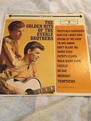 THE EVERLY BROTHERS - THE GOLDEN HITS OF THE EVERLY BROTHERS VINYL RECORD USED $10.00