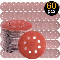 5 Inch Hook and Loop Sanding Disc Sandpaper Assorted Polishing Pads