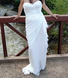 $1775 Sexy Designer Wtoo Brides by Watters & Watters WEDDING DRESS Size 10 ! $334.33