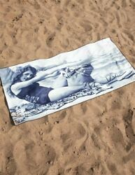 Victorian Trading Co Vintage Photograph Cheeky Girl Beach Towel Black and White