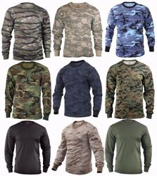 Long Sleeve T shirt Camouflage Military Tactical Sizes: S 2XL $13.99