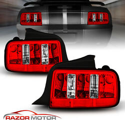 2005 2006 2007 2008 2009 Ford Mustang Retro Classic Muscle Style Red Tail Lights