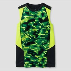 c9 Champion Boys Novelty Sleeveless Tech T shirt Green Charcoal $2.05