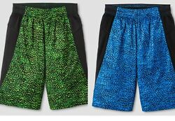 C9 Champion Boys Novelty Training Basketball Shorts Blue OR Green $1.95