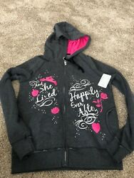 Disney Store And She Lived Happily Ever After Jacket Hoody Sweatshirt Size S