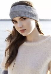 New Free People Knit Ribbed Wide Headband Ear Band Warmer Gray Turban Hair $9.99