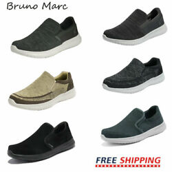 Bruno Marc Mens Slip On Loafers Casual Shoes Mesh Walking Shoes Fashion Sneakers $28.15