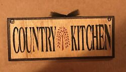 country kitchen willow tree primitive wall kitchen home decor wood 4x12 sign $8.99