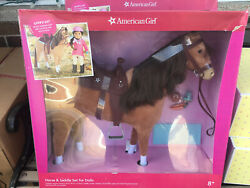 American Girl Doll Horse and Saddle Set for 18 inch 7 Peces Doll New in box