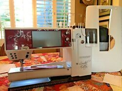 BERNINA 830LE LTD ED SEWING QUILTING EMBROIDERY wBSR 2 Trolleys EXTRAS..MINT