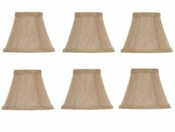 Set of 6 Chandelier Lamp Shades 6 Inch Belgium Linen $45.95
