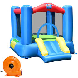 Inflatable Bouncer Kids Bounce House Jumping Castle w Air Blower Indoor Outdoor